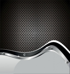 Perforated metal plate vector