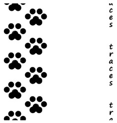 Footprints of the animal vector