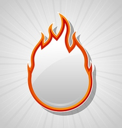 Fire icon vector image