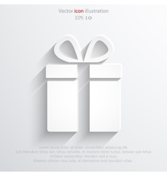 Gift web icon vector