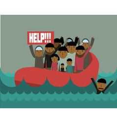 Refugees vector