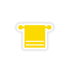 Icon sticker realistic design on paper towel spa vector
