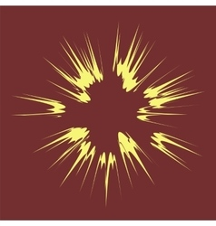 Explode flash cartoon explosion vector