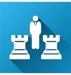Chess strategy gradient square icon vector