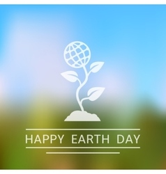 Happy earth day background vector