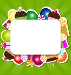 Confectionery frame vector