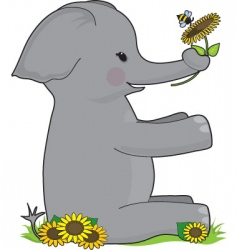 alphabet animal e vector image vector image