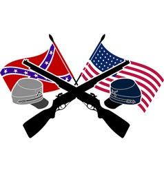 American Civil War stencil vector image vector image