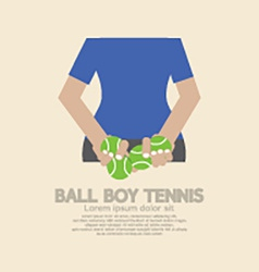 Back side of ball boy tennis vector