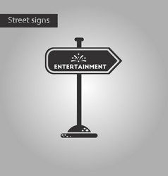 Black and white style icon sign entertainment vector