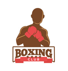 Boxing club logo vector