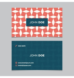 business card pattern red 12 vector image