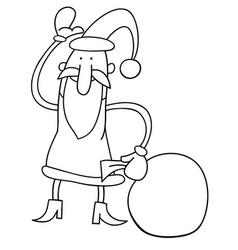 canta claus christmas cartoon coloring book vector image vector image