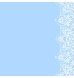 Decorative border with white lace from snowflakes vector