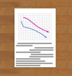 Document with crisis reports vector