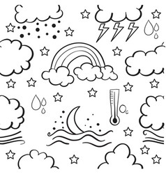 Doodle of weather style collection vector