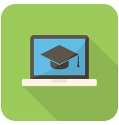 E-learning icon vector image vector image