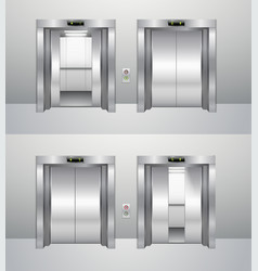 elevator closed and open vector image