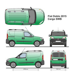 Fiat doblo cargo swb 2015 vector