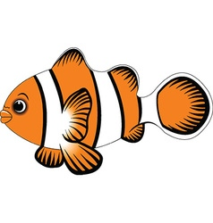 funny fish cartoon vector image vector image