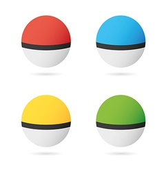 Game balls set to play in the team vector