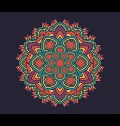 Geometric radial pattern vector image vector image