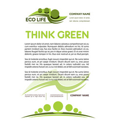 Green or eco nature company poster vector