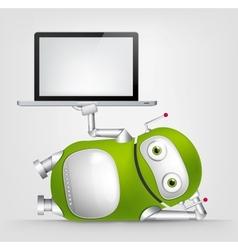 Green Robot vector image vector image
