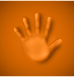 Human palm vector