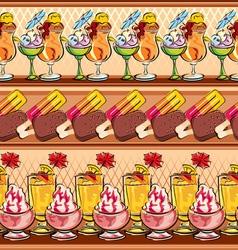 ice-cream seamless vector image