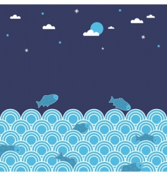 night swimming vector image vector image