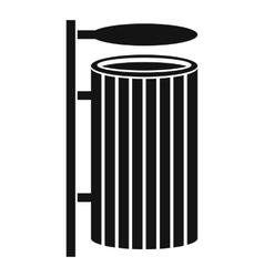 Public trash can icon simple style vector image vector image