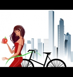 riding a bike vector image vector image