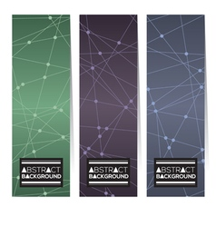 Set of three abstract modern vertical banners vector