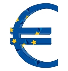 Sign euro and flag vector