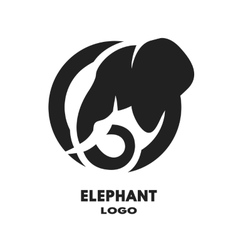 Silhouette of the elephant logo vector image vector image