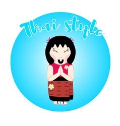 Thai woman character vector