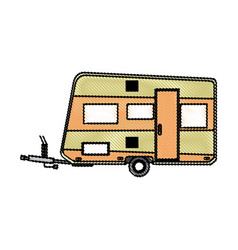 Trailer camping vehicle transport travel vacation vector