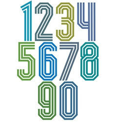 Triple stripe geometric numbers vector