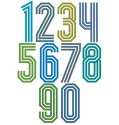 Triple stripe geometric numbers vector image