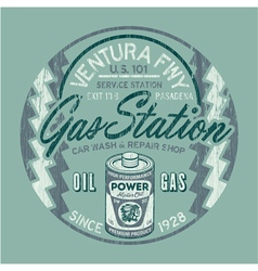 Ventura freeway service station vector image