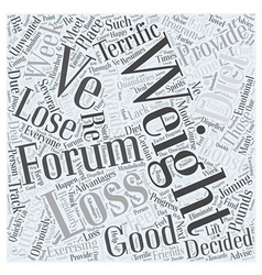 Weight loss forums word cloud concept vector