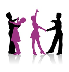 Young ballroom dancers vector