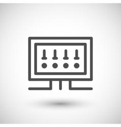 Fusebox line icon vector image