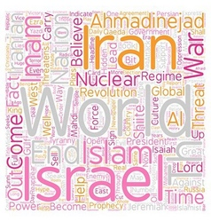Iran israel the th imam text background wordcloud vector