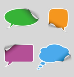 Colorful stickers dialog bubble vector