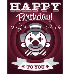 Happy birthday invitation greeting card vector