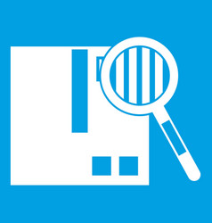 quality control icon white vector image