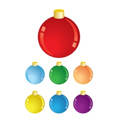 Set of christmas decorations - balls vector