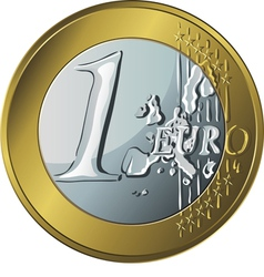 Money gold coin euro vector